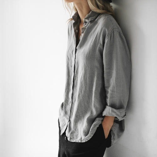 Linen shirt light grey