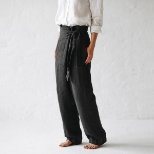Wrap trousers grey