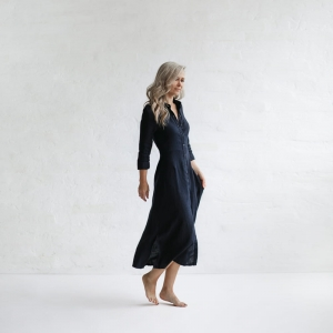 Linen tailored dress