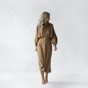 Linen dress Nea beige