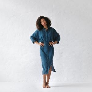 Linen dress Nea blue