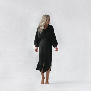 Linen dress Nea black