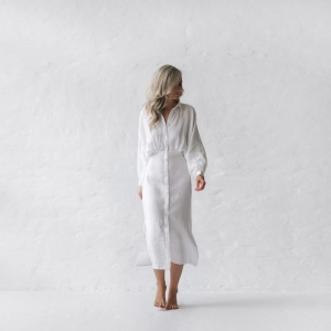 Linen dress Nea white