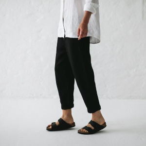 Linen trousers black XS/S