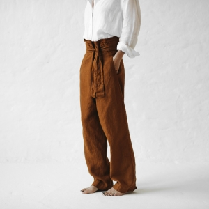Wrap trousers mustard