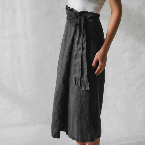 49d320f8ab Linen wrap trousers grey