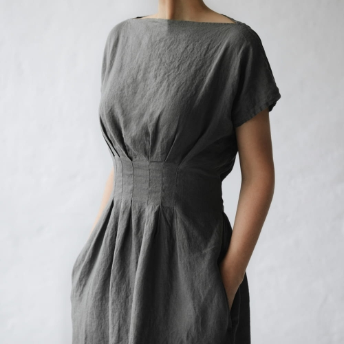 Linen dress Elma grey